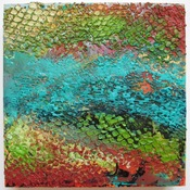 ALI HERRMANN Abstracts textural encaustic