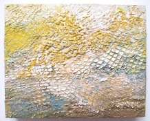 ALI HERRMANN Abstracts encaustic on panel