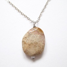 ALI HERRMANN Stone Necklaces and Bracelets agatized coral fossil