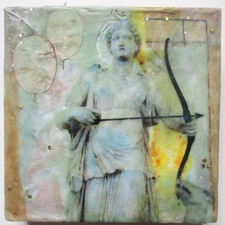 ALI HERRMANN Women Icons Mixed media encaustic