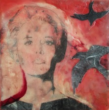 ALI HERRMANN Women Icons encaustic collage