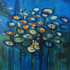 ALI HERRMANN Abstract Biomes acrylic on canvas