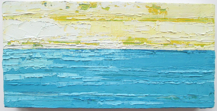 ALI HERRMANN Out to Sea Series oil on canvas