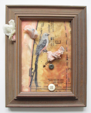 ALI HERRMANN Birds encaustic collage