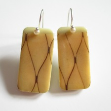 ALI HERRMANN Art Transfer Domino Upcycles image transfer domino earrings/sterling