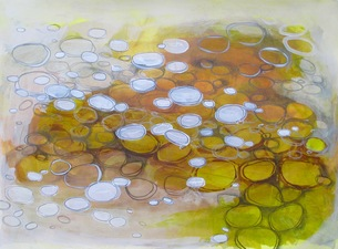 ALI HERRMANN Abstract Biomes acrylic and ink on paper