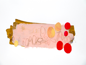 ALI HERRMANN Pandemic Sketch Series 2020 acrylic and collage on paper