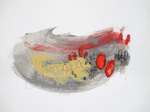 ALI HERRMANN Pandemic Sketch Series 2020 acrylic, pencil and collage on paper