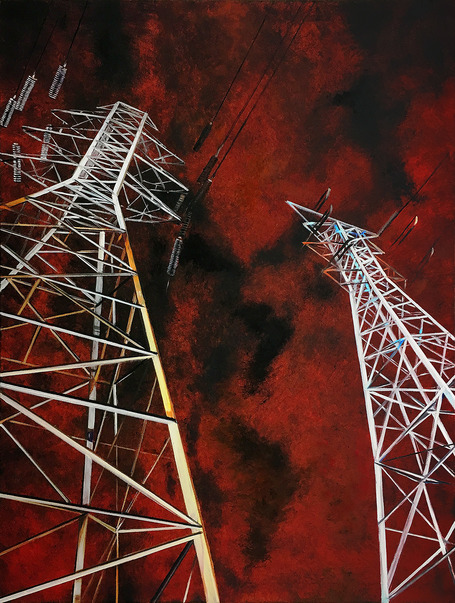 Other Paintings Towers on a Menacing Sky