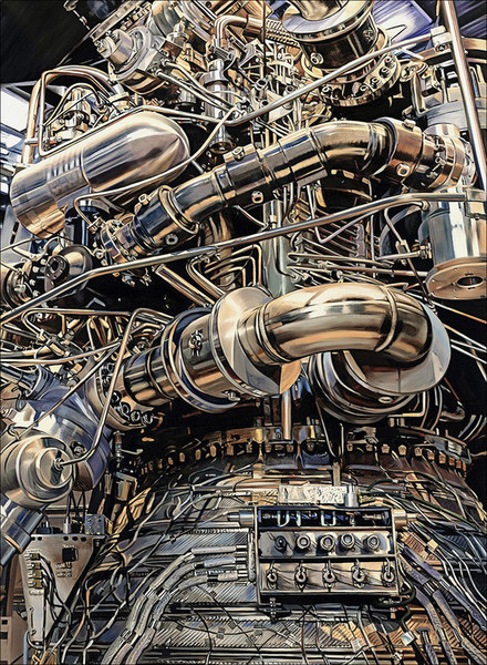 allan gorman Exquisite Engineering Oil on Linen