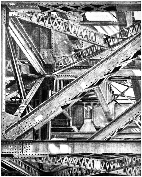 allan gorman Graphite Drawings Graphite on Bristol