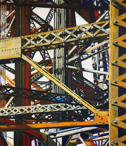 allan gorman The Seduction of Structures Oil Sticks on Natural Linen