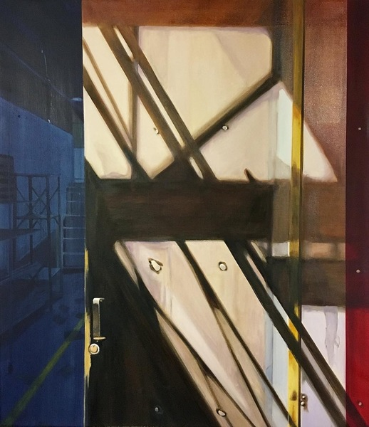 allan gorman The Seduction of Structures Oil on Linen