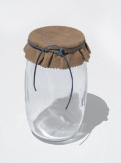 Allison SMITH Notion Nanny Blown glass, leather