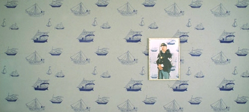Allison SMITH Edisto Color photograph on painted wall