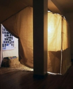 Allison SMITH Mom-n-Pop Canvas tent and mixed media