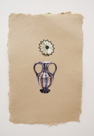 Allison SMITH Pitcher Collection collage on handmade 100% cotton recycled paper