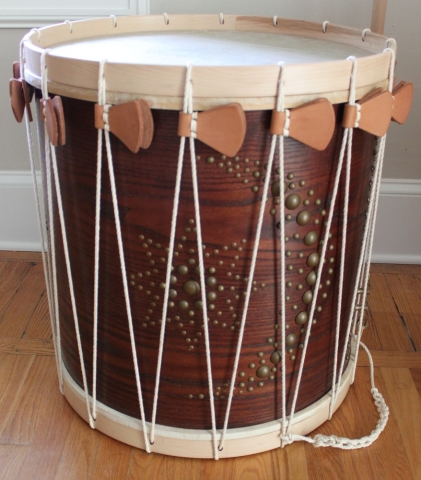 Allison SMITH Rudiments of Fife & Drum Wood, calfskin, linen, brass, leather