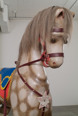 Allison SMITH Hobby Horse Wood, paint, horsehair, leather, brass, glass
