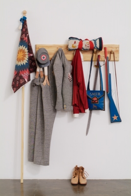 Allison SMITH Hobby Horse Wool, canvas, linen, cotton, paint, wood, aluminum, leather, brass
