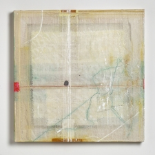 AMANDA  BARROW Paintings oil, ink & fabric on cheesecloth