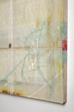 AMANDA  BARROW Paintings oil, ink, thread & fabric on cheesecloth