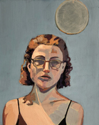 AMANDA CASE MILLIS Self Portraits Acryla gouache on panel