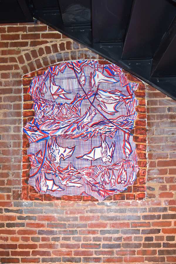 AMANDA LECHNER New Paintings buon Fresco on masonry wall