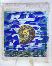 Amanda Lechner Fresco fresco on burlap