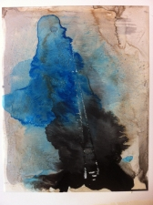Amie Oliver Heaven, Earth and Sea Series acrylic and ink on Yupo Paper
