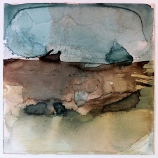 Amie Oliver Heaven, Earth and Sea Series ink and watercolor on paper