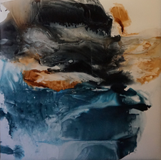 Amie Oliver Arcadia Lost Series ink wash and acrylic on stretched polypropylene paper