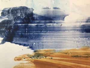 Amie Oliver Delta Time: Maps, Planes and Watermarks 2018-2019 ink, James River water and wax on polypropylene paper