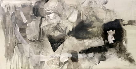 Amie Oliver Arcadia Lost Series Ink and acrylic on polypropylene paper