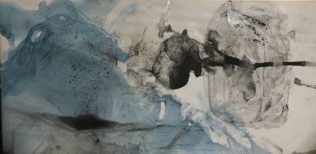 Amie Oliver Arcadia Lost Series Acrylic and ink on polypropylene paper