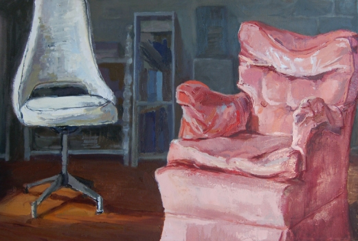 ABMacD Chairs 2007-2009 Oil on canvas