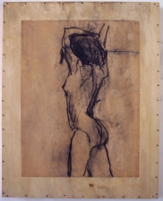 ABMacD Gesture Drawings Charcoal, paper, wood, encaustic