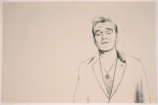 ABMacD Morrissey charcoal on paper