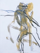 ABMacD Gesture Drawings Oil pastel and acrylic on vellum