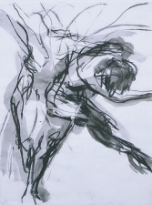 ABMacD Gesture Drawings Charcoal on vellum (with wash)
