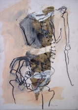 ABMacD Gesture Drawings Mixed media on matboard
