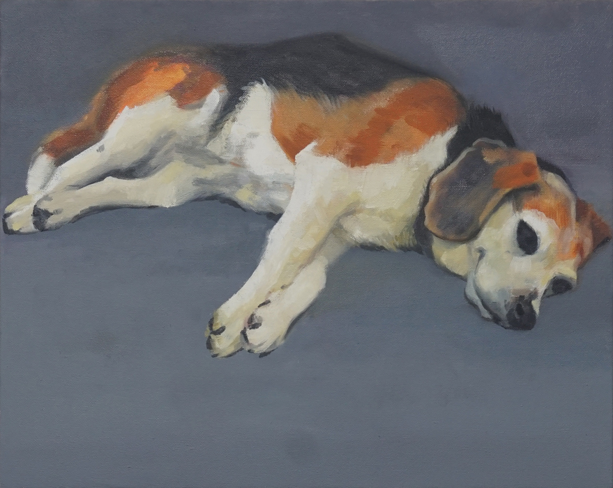ABMacD Dogs oil on canvas