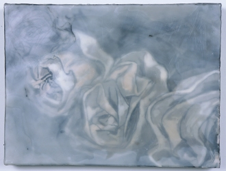 ABMacD Whites Encaustic on panel