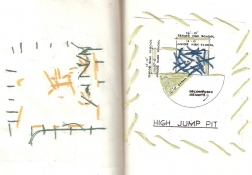 Amy Bouse limerick avenue school sketchbook embroidery on paper