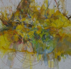 Amy Bouse king county series pastel, acrylic and ink on paper