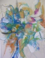 Amy Bouse king county series acrylic and pastel on muslin