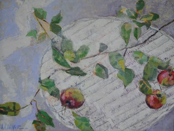 Amy Conover Interiors and Still Life Paintings oil on board