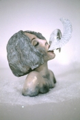 Amy Finkbeiner Saints for Girls Sculpey, acrylic, plaster, plastic snow, and glitter