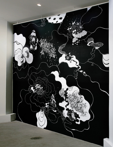 AMY KAO INSTALLATIONS Vinyl cut-outs on wall