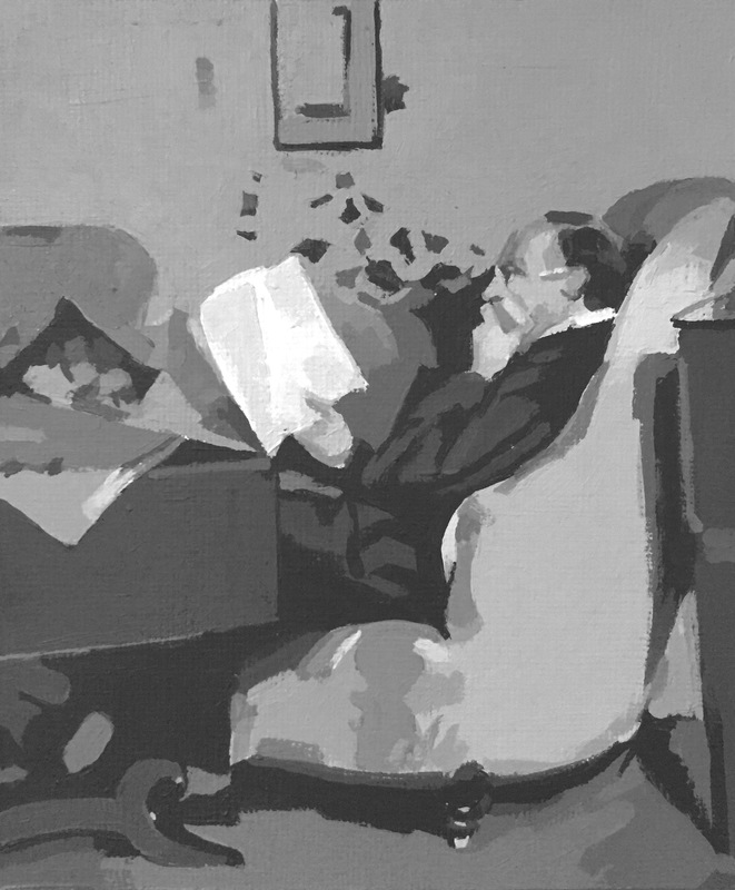 Christian Munch on the Couch 8-Value Study + White